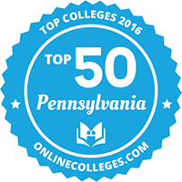 PA top 50 colleges  logo